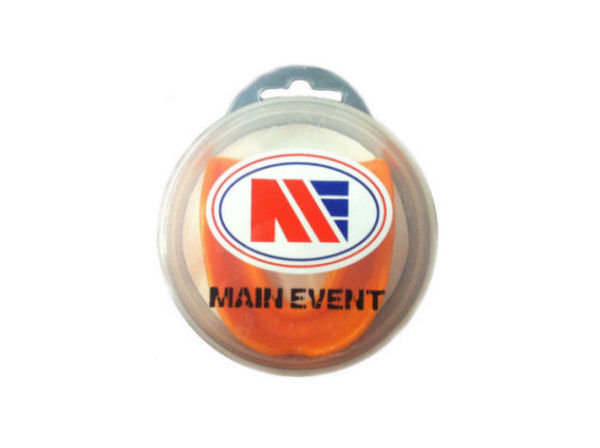 Main Event Boxing Single Gumshield Mouthguard - Orange With Case