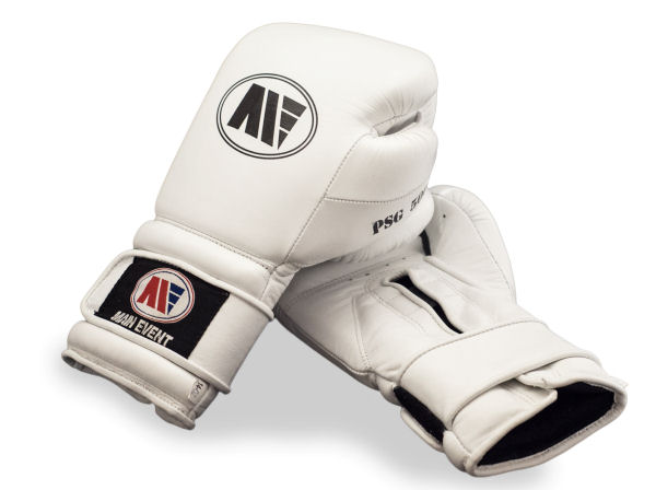 Main Event Limited Edition Pure White Pro Boxing Gloves - Velcro