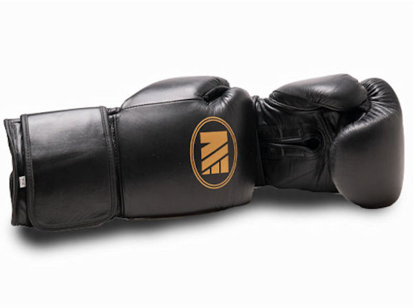 Main Event Super Spar Leather Pro Boxing Gloves Black Velcro