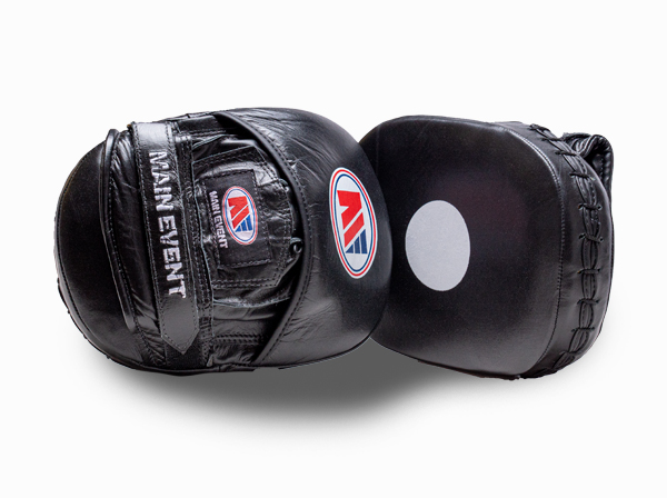 Main Event Boxing Leather Focus Pads Mitts Black