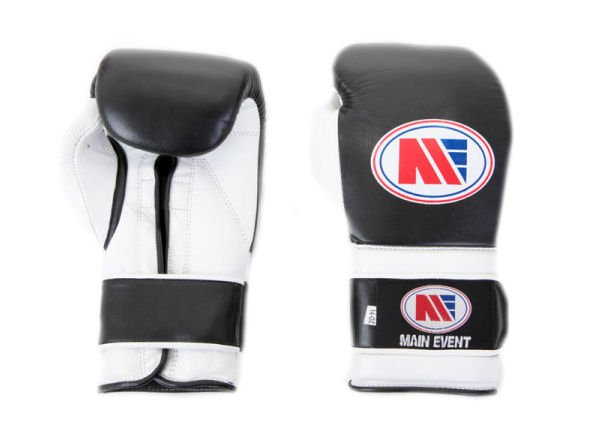 Main Event Pro Training Boxing Gloves PTG 1000 Black and White