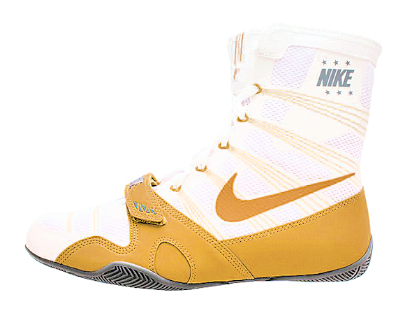 NEW Nike MP Hyper KO Flywire Boxing Boots White / Metallic Gold