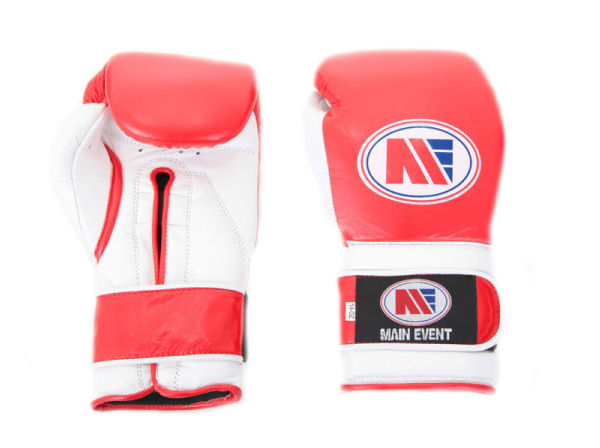Main Event Pro Training Boxing Gloves PTG 1000 Red and White