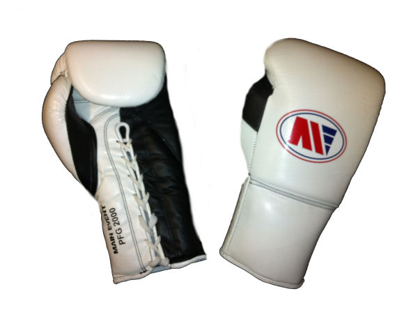Main Event Boxing Pro Fight PFG 2000 Punchers Glove White Black