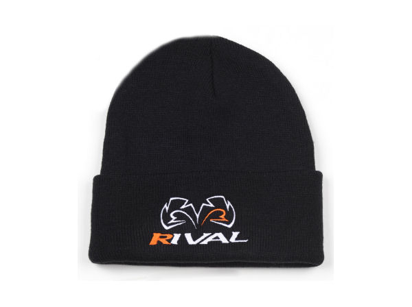 Rival Boxing Embroidered Fold Over Beanie Hat - Cuff Tuque