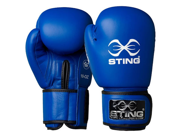 Sting AIBA England Boxing Approved Competition Gloves Blue