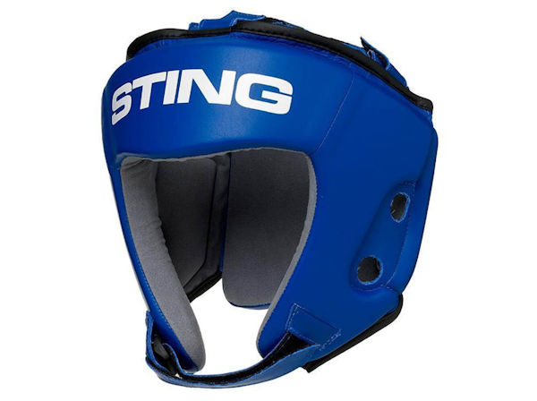 Sting AIBA England Boxing Approved Competition Head Guard Blue