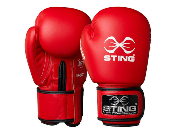 Sting AIBA England Boxing Approved Competition Gloves Red