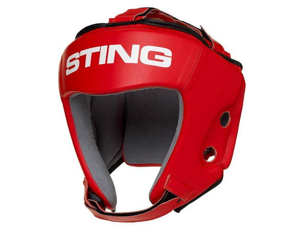 Sting AIBA England Boxing Approved Competition Head Guard Red