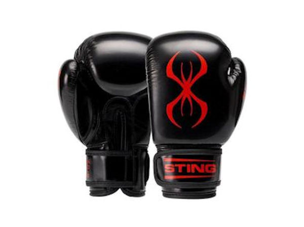 Sting Boxing Arma Junior Kids 6oz Training Gloves Black Red
