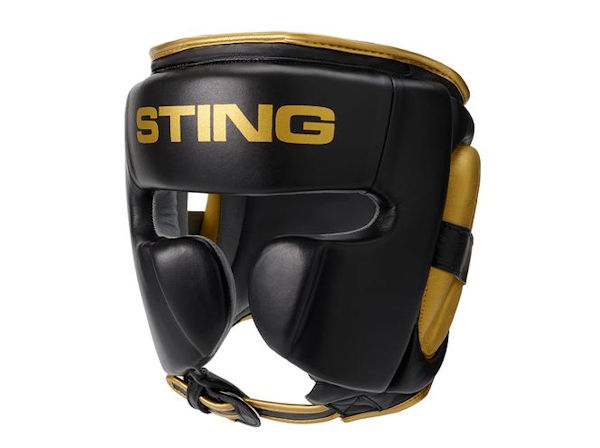 Sting Boxing Viper Gel Professional Head Guard Black Gold