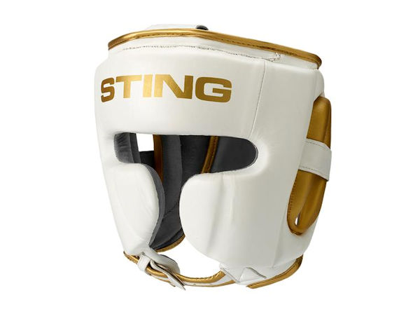 Sting Boxing Viper Gel Professional Head Guard White Gold