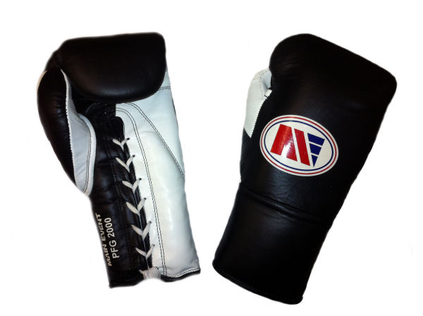 Main Event Boxing Pro Fight PFG 2000 Punchers Glove Black White