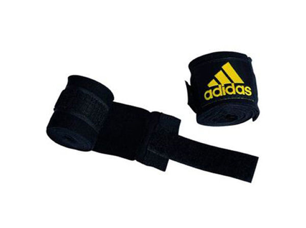 Adidas 2.5m Long Cotton Mix Hand Wraps - Black