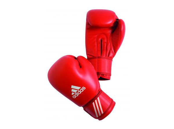 Adidas AIBA Licensed Stamped Amateur Boxing Comp Gloves Red