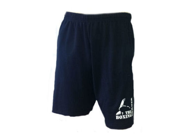 Boxing Corner Fleece Training Gym  - Casual Shorts - Black