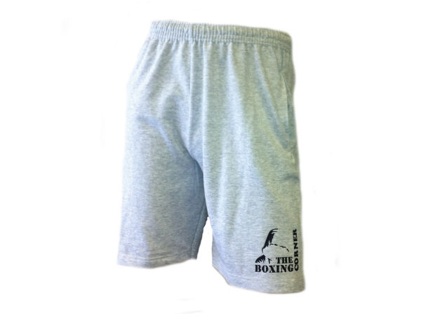 Boxing Corner Fleece Training Gym  - Casual Shorts - Grey