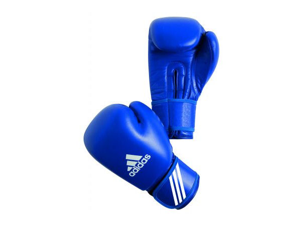Adidas AIBA Licensed Stamped Amateur Boxing Comp Gloves Blue