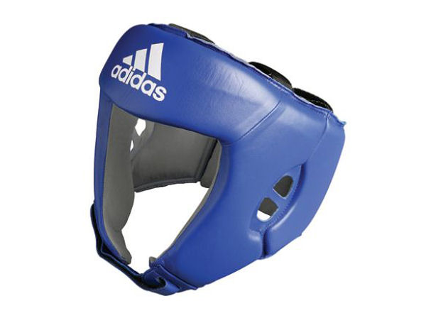 Adidas AIBA Licensed Stamped Amateur Boxing Headguard Blue