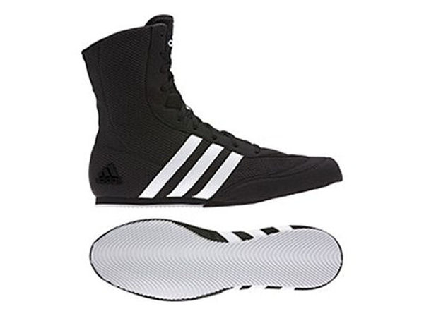 Adidas Box Hog 2 Plus Boxing Boots Black White