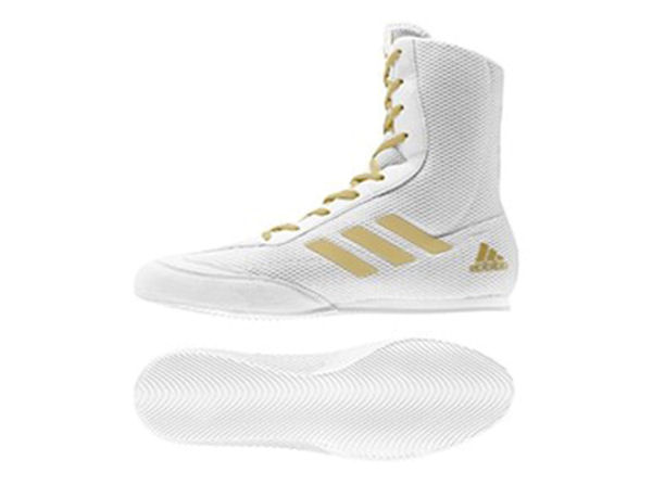 Adidas Box Hog 2 Plus Boxing Boots White Gold