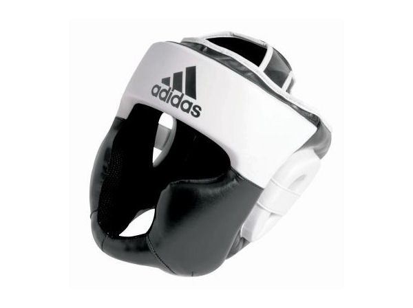 Adidas Boxing Response Full Face Head Guard Black White