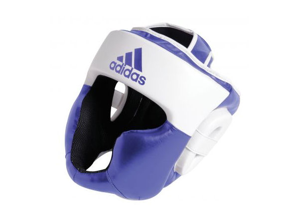 Adidas Boxing Response Full Face Head Guard Blue White