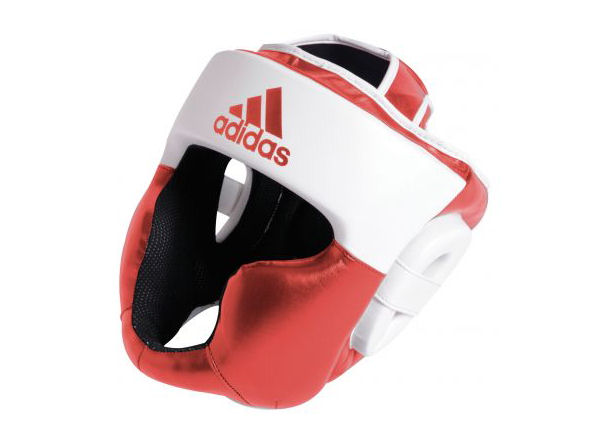 Adidas Boxing Response Full Face Head Guard Red White