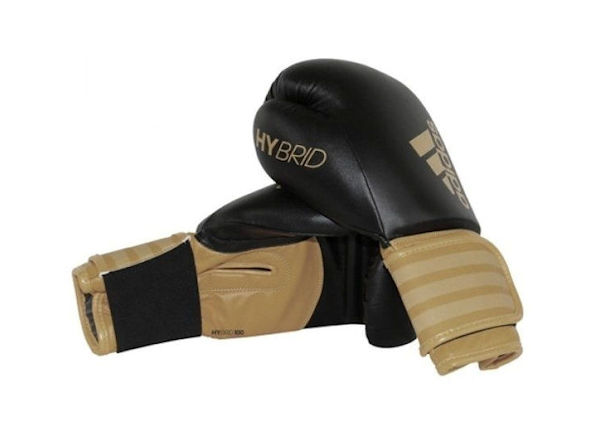 Adidas Hybrid 100 Boxing Gloves Box Fit Boxercise - Black Gold