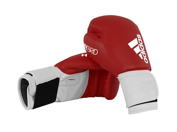 Adidas Hybrid 100 Boxing Gloves Box Fit Boxercise - Red White