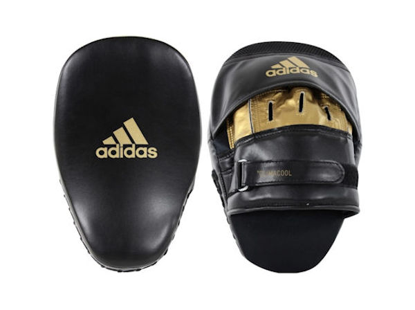 Adidas Boxing Fitness and Boxercise Focus Pads Mitts Black Gold