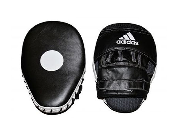 Shiv Naresh Teens Boxing Gloves 12oz: Adidas Leather Professional Focus Pads Mitts, The Boxing