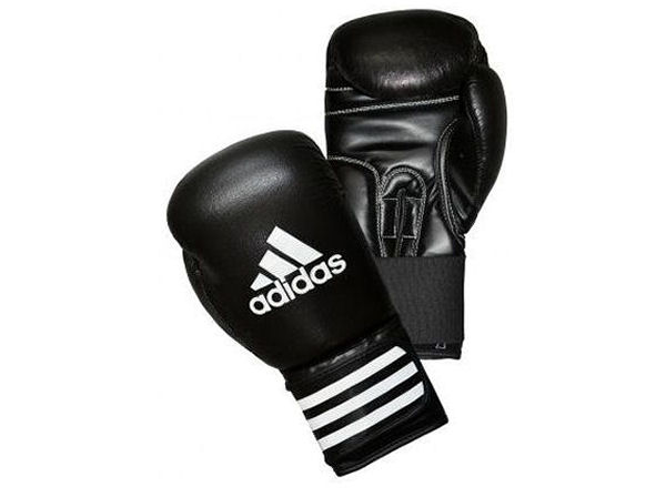 Adidas Boxing Performer Leather Training Sparring Gloves - Black