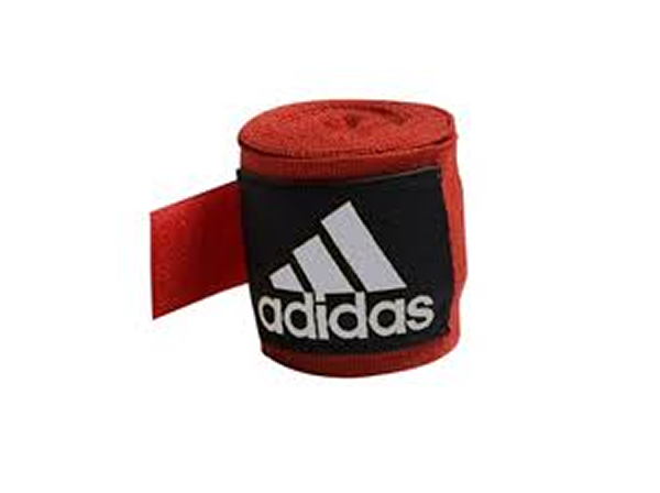 Adidas 2.5m Long Cotton Mix Hand Wraps EB ABA Approved Red