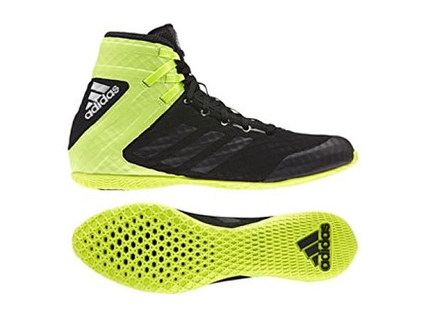 5919d27bc69 SALE - Adidas Speedex 16.1 Boxing Boots Black Lime, The Boxing Corner