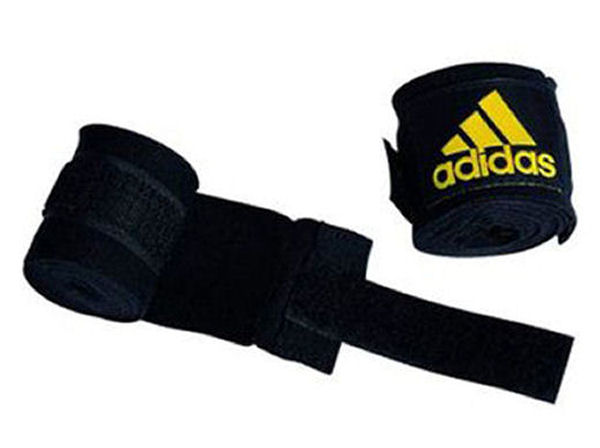 Adidas 2.5m Long Cotton Mix Hand Wraps EB ABA Approved Black