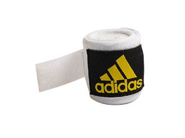 Adidas 2.5m Long Cotton Mix Hand Wraps EB ABA Approved White