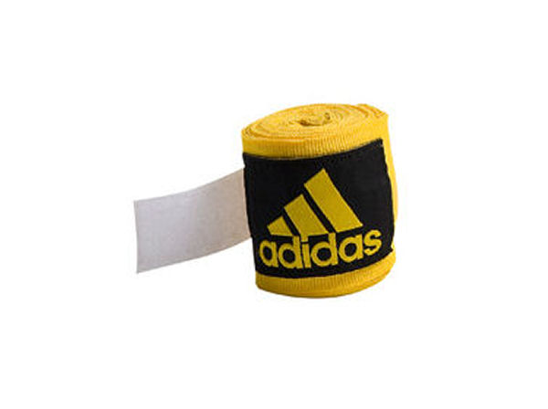 Adidas 2.5m Long Cotton Mix Hand Wraps - Red