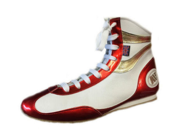 Main Event Alchemy Titanium Pro Elite Boxing Boots - White Red