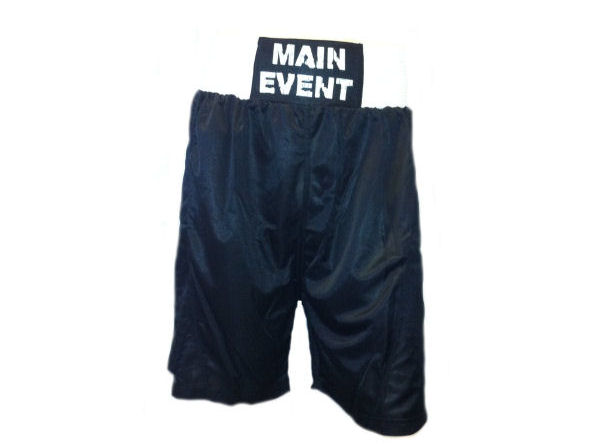 Main Event Boxing Club Shorts - Black White