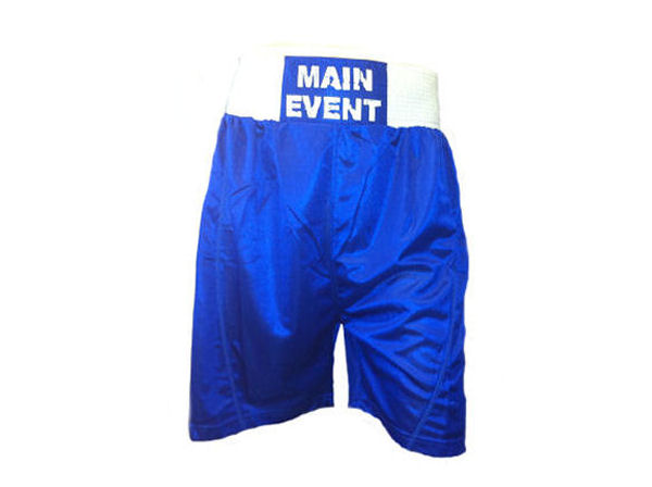 Main Event Boxing Club Shorts - Blue White