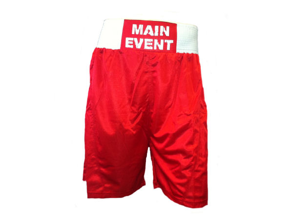 Main Event Boxing Club Shorts - Red White