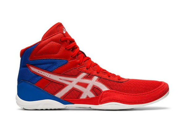 Asics Matflex 6 Boxing Wrestling Boot Red White Blue Junior Kids