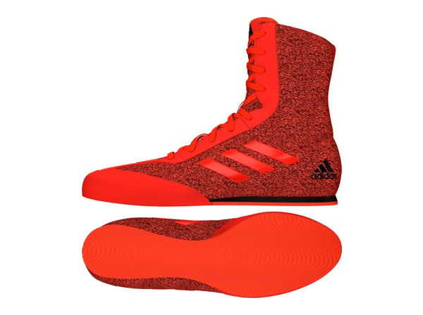 Adidas Box Hog Plus Boxing Boots Red Black