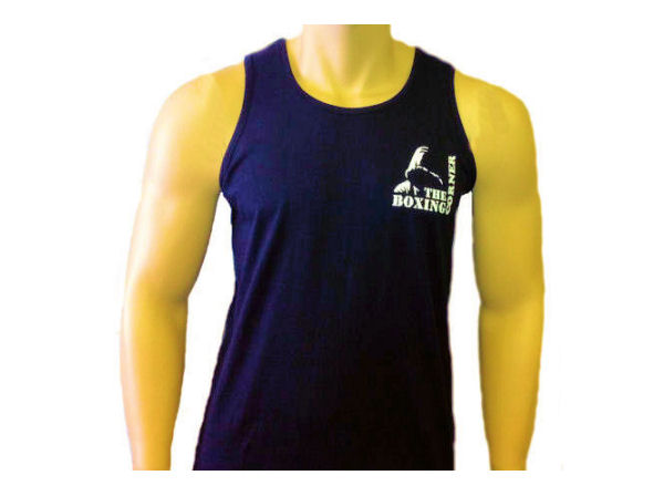 Boxing Corner Cotton Training Vest - Gym Casual - Navy
