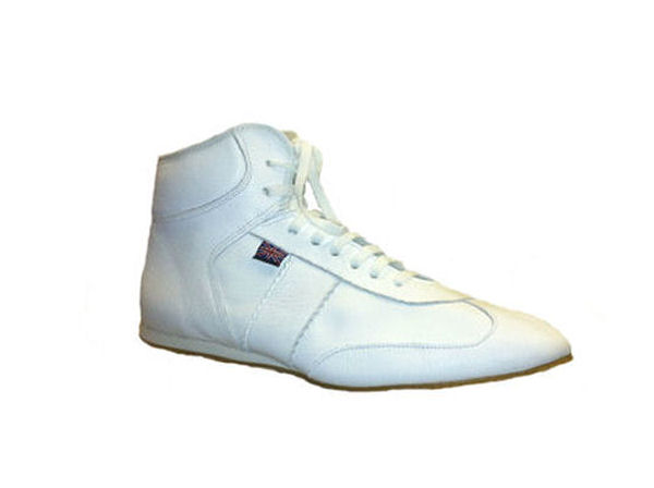 Main Event Pro Elite Low Cut Leather Boxing Boots All White