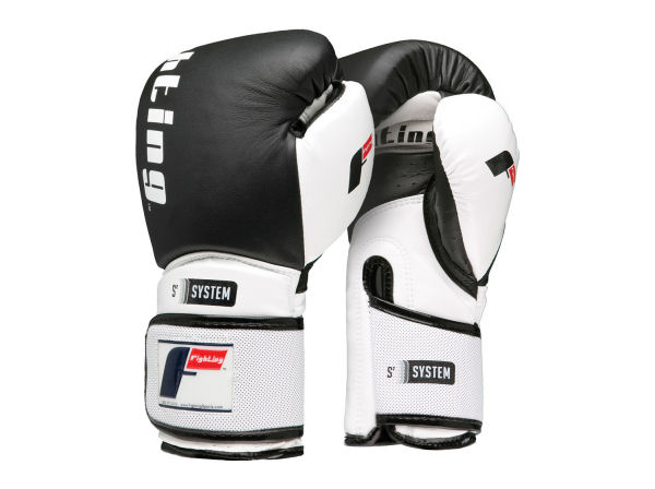 Fighting Sports S2 Gel Power Elite Pro Punch Bag Gloves - Black