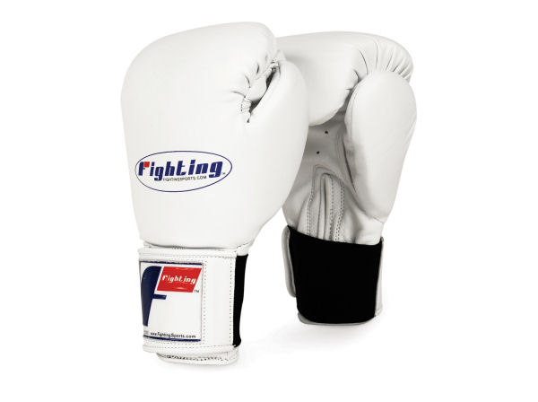Fighting Sports Pro Punching Bag and Training Gloves - White