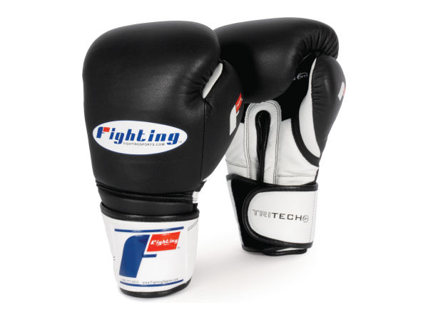 Fighting Sports Tri-Tech Elite Pro Punch Bag Gloves - Black