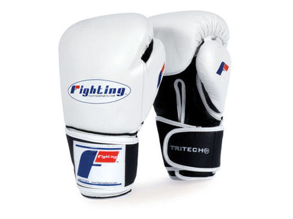 Fighting Sports Tri-Tech Elite Pro Punch Bag Gloves - White